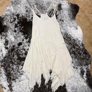 Free People Tattered Hem Dress (cream)